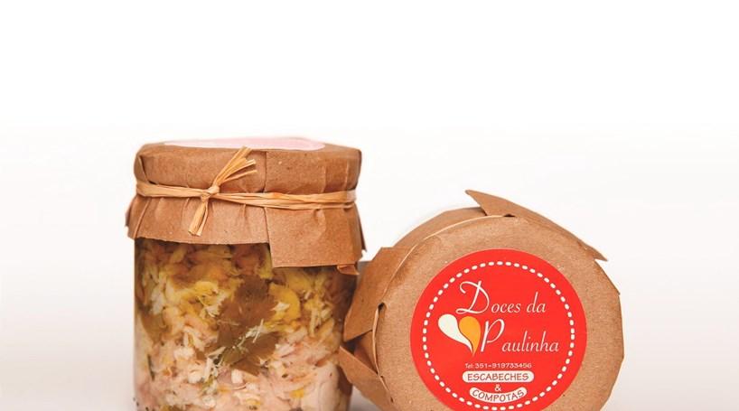 Escabeche e conservas de bacalhau, frango, perdiz ou polvo