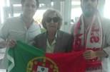 Avó de Salvador emocionada com chegada do neto a Portugal