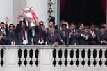Benfica recebido em festa nos Paços do Concelho de Lisboa