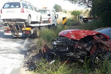 Choque entre dois carros faz dois feridos perto de Beja