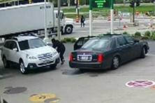 Evita roubo do carro com salto para o capô