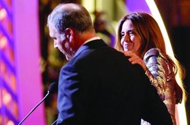 Apoio a Bárbara em noite de gala