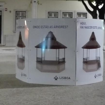 Fotografias mostram protesto nas obras do Largo da Graça