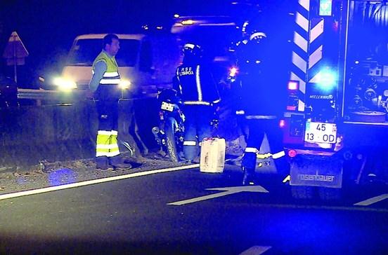 Taxista em fuga após morte de motociclista