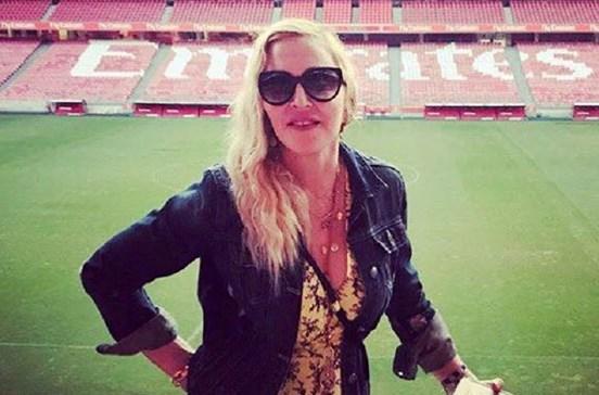 Madonna despede-se de Lisboa com foto no Estádio da Luz