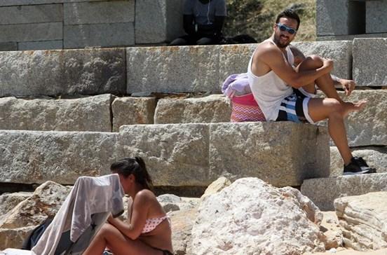 César Peixoto e Diana em dia animado com os filhos