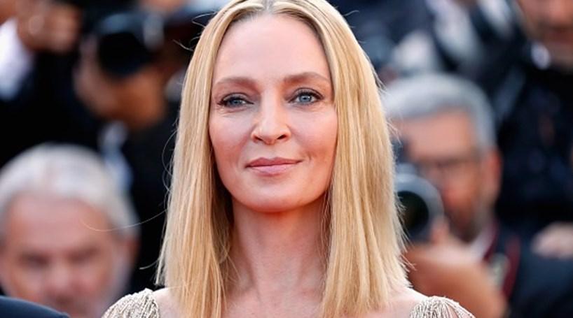 Uma Thurman brilha aos 47 anos no último dia do Festival de Cannes