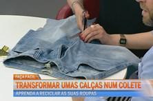 Transforme umas calças num colete