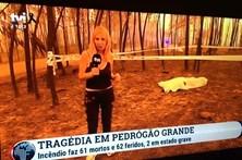 ERC averigua reportagem de Judite Sousa junto a corpo queimado