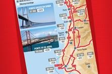 Veja o tráfego médio diário nas principais estradas de Portugal