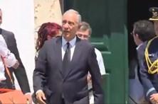 Marcelo Rebelo de Sousa no velório do pai de Mourinho