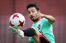 Bernardo Silva no onze de Portugal contra o Chile