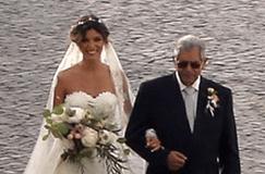 Andreia Rodrigues sem o pai no altar
