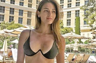 Namorada de Bernardo Silva sexy em Las Vegas