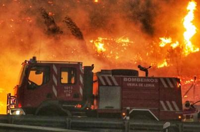 As imagens do incêndio de Pedrógão