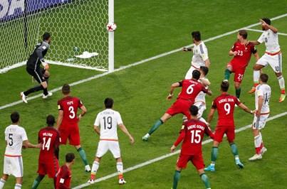 As imagens do Portugal - México na Taças das Confederações