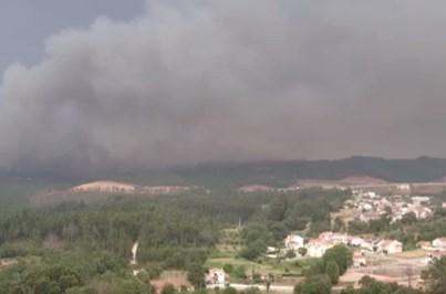 Drone da CMTV mostra incêndio em Pedrógão Grande