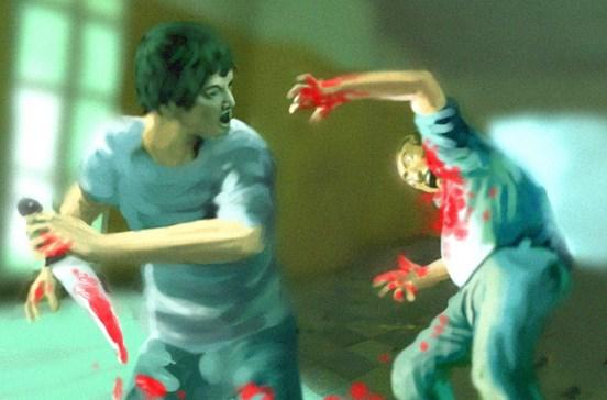 Caça mulher e vizinho nus e ataca à facada