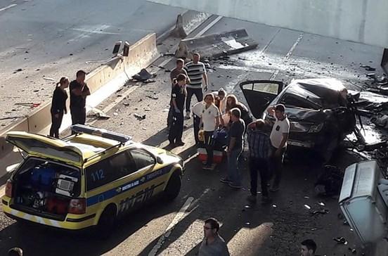 Despiste mata pai e fere filha em túnel de Braga