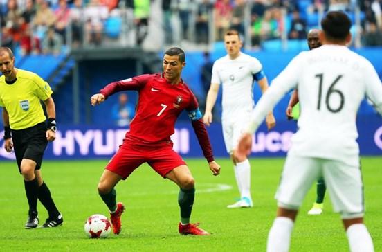 Portugal 1 - 0 Nova Zelândia. Cristiano Ronaldo inaugura o marcador de grande penalidade