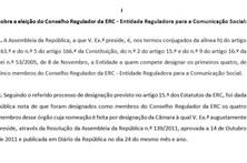 Cofina exige afastamento de Arons de Carvalho da ERC