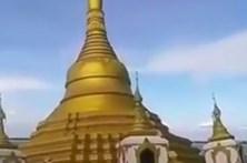 Templo budista é engolido pela água em Myanmar