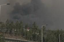 Fogo em Coimbra combatido por 400 bombeiros corta A13