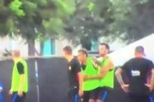 Neymar furioso com Nelson Semedo no treino do Barcelona