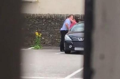 Filmada a fazer sexo oral a empresário em parque de estacionamento
