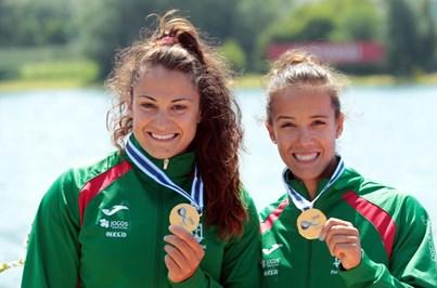 Joana Vasconcelos e Francisca Laia conquistam prata nos Europeus de canoagem