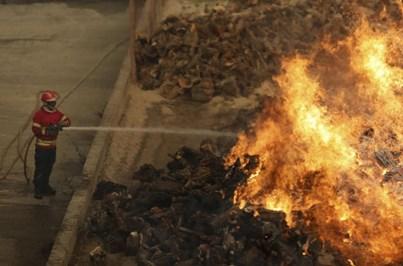 Fogo em Alijó preocupa população