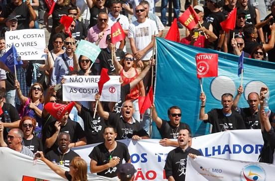 Greve da PT com adesão nacional 70% dizem sindicatos, empresa aponta 19%