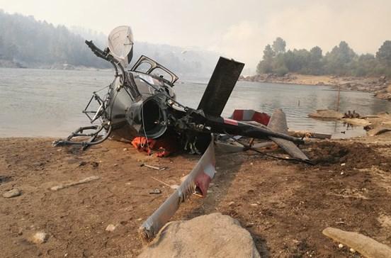 Investigação a queda de helicóptero em Alijó afasta tese do Governo de aterragem de emergência