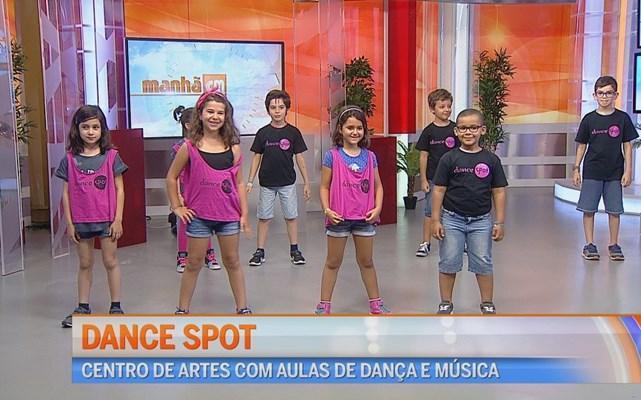 As crianças do Dance Spot no Manhã CM