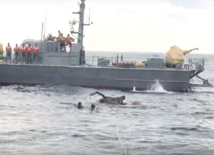 Marinha do Sri Lanka salva elefante em alto mar; veja o vídeo