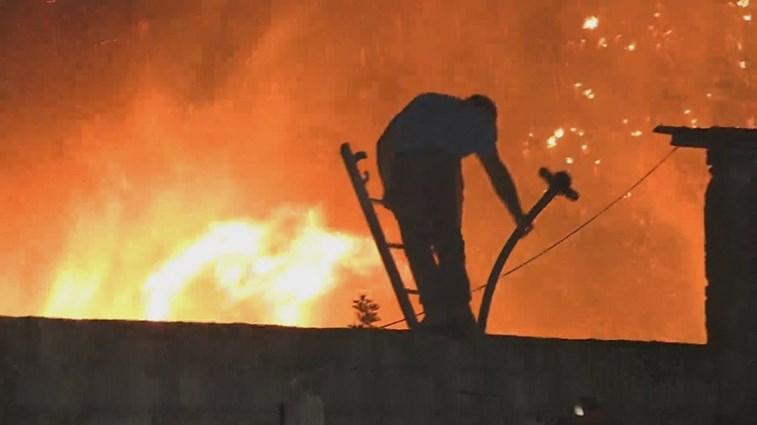 Aldeia de Chã evacuada — Incêndio em Alijó