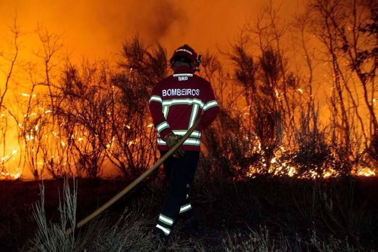 Incêndio na Guarda corta A25