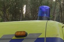 Motociclista morre em acidente com três viaturas na A33