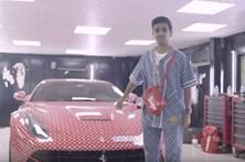 Adolescente encomenda à Louis Vuitton decoração do seu Ferrari