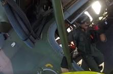 Vídeo mostra Força Aérea em missão de salvamento no mar dos Açores