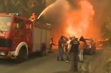 Momentos de aflição em Chão de Codes devido às chamas