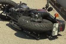 Motociclista despistou-se na A29