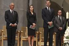Marcelo e Costa participam em missa pela paz em Barcelona
