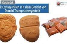 Apreendido ecstasy com rosto de Trump