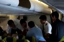Vídeo mostra agressões em voo da TAP para o Brasil
