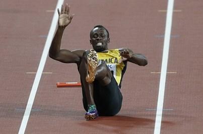 Bolt lesiona-se na corrida final