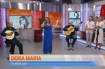 Dora Maria deslumbra no Manhã CM