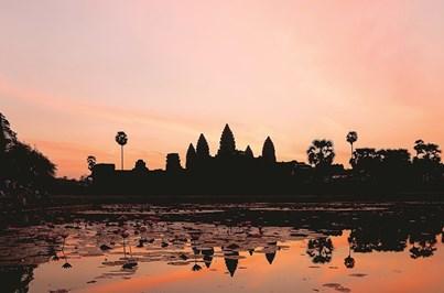 Conhecer o Camboja ao amanhecer