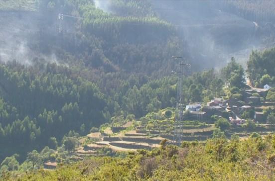 Fogo em Castro Daire que provocou morte a piloto de helicóptero já foi dominado