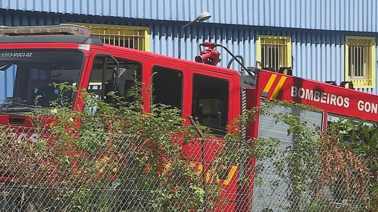 Incêndio em fábrica em Gondomar